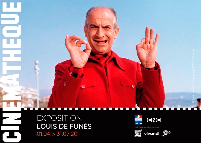 Exposition Louis de Funès à la cinémathèque française du 1er avril au 31 juillet 2020
